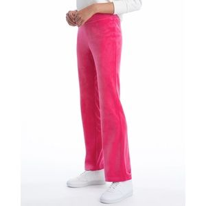 JUICY COUTURE PINK PARTY LUXE VELOUR SWEATPANTS SIZE LARGE NEW WITH TAGS 💕